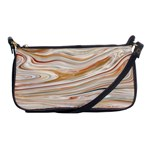 Brown And Yellow Abstract Painting Shoulder Clutch Bag Front