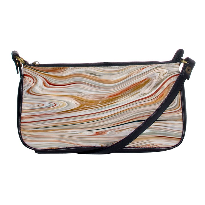 Brown And Yellow Abstract Painting Shoulder Clutch Bag