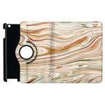 Brown And Yellow Abstract Painting Apple iPad 3/4 Flip 360 Case Front