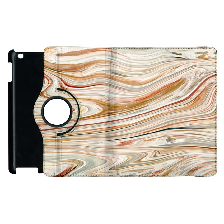 Brown And Yellow Abstract Painting Apple iPad 3/4 Flip 360 Case