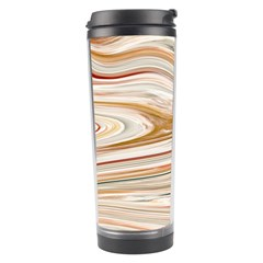 Brown And Yellow Abstract Painting Travel Tumbler by Pakrebo