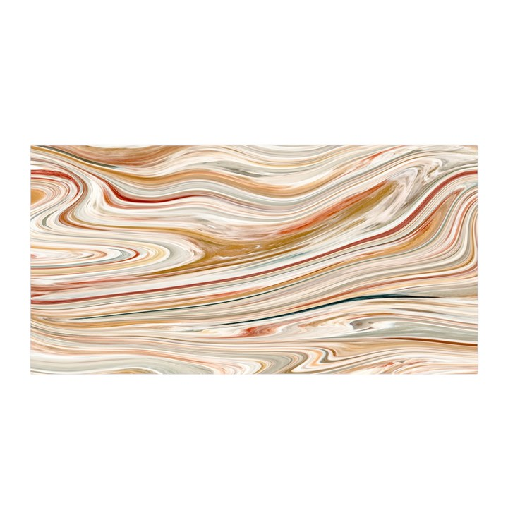 Brown And Yellow Abstract Painting Satin Wrap