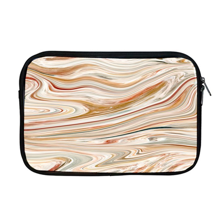 Brown And Yellow Abstract Painting Apple MacBook Pro 17  Zipper Case