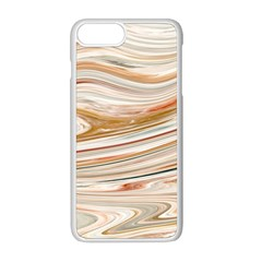 Brown And Yellow Abstract Painting Iphone 8 Plus Seamless Case (white)