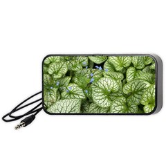 Green And White Leaf Plant Portable Speaker