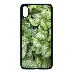 Green And White Leaf Plant Iphone Xs Max Seamless Case (black) by Pakrebo
