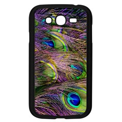 Green Purple And Blue Peacock Feather Digital Wallpaper Samsung Galaxy Grand Duos I9082 Case (black) by Pakrebo