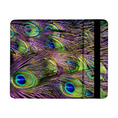 Green Purple And Blue Peacock Feather Digital Wallpaper Samsung Galaxy Tab Pro 8 4  Flip Case by Pakrebo