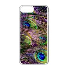Green Purple And Blue Peacock Feather Digital Wallpaper Iphone 7 Plus Seamless Case (white) by Pakrebo