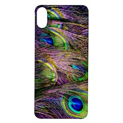 Green Purple And Blue Peacock Feather Digital Wallpaper Iphone X/xs Soft Bumper Uv Case by Pakrebo