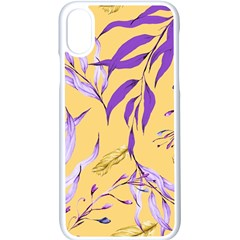 Floral Boho Watercolor Pattern Iphone X Seamless Case (white) by tarastyle