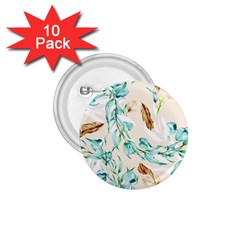 Floral Boho Watercolor Pattern 1 75  Buttons (10 Pack) by tarastyle