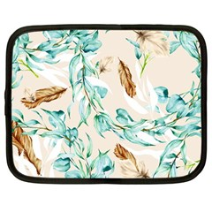 Floral Boho Watercolor Pattern Netbook Case (large) by tarastyle