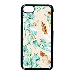 Floral Boho Watercolor Pattern Iphone 8 Seamless Case (black) by tarastyle