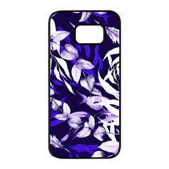 Floral Boho Watercolor Pattern Samsung Galaxy S7 Edge Black Seamless Case by tarastyle