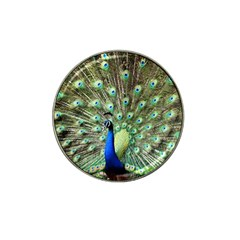 Blue And Green Peacock Hat Clip Ball Marker