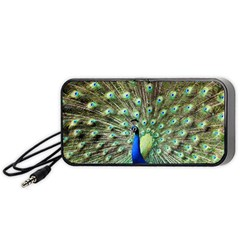 Blue And Green Peacock Portable Speaker