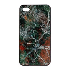 Aerial Photography Of Green Leafed Tree Iphone 4/4s Seamless Case (black)