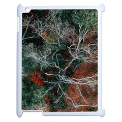 Aerial Photography Of Green Leafed Tree Apple Ipad 2 Case (white)