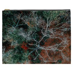 Aerial Photography Of Green Leafed Tree Cosmetic Bag (xxxl)