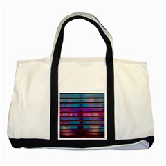 Blue And Pink Wallpaper Two Tone Tote Bag