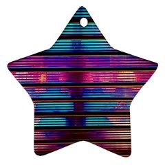 Blue And Pink Wallpaper Star Ornament (two Sides)