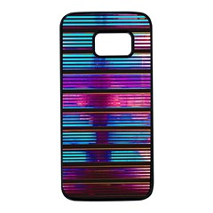 Blue And Pink Wallpaper Samsung Galaxy S7 Black Seamless Case