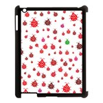 Beetle Animals Red Green Flying Apple iPad 3/4 Case (Black) Front