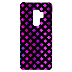 Lattice Aqua Pink Purple Samsung S9 Plus Black Uv Print Case by AnjaniArt