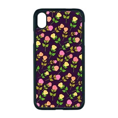 Flowers Roses Brown Iphone Xr Seamless Case (black)
