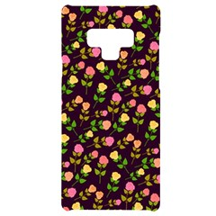 Flowers Roses Brown Samsung Note 9 Black Uv Print Case  by Bajindul
