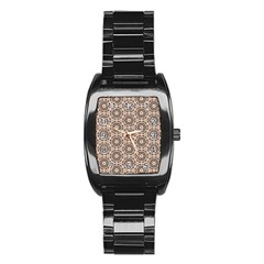 Texture Tissue Seamless Plaid Stainless Steel Barrel Watch by HermanTelo