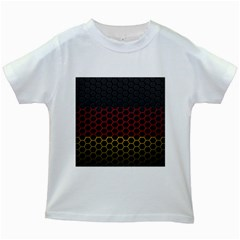 Germany Flag Hexagon Kids White T Shirts by HermanTelo