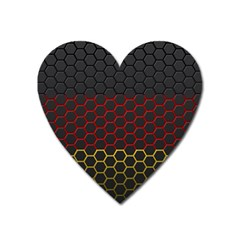 Germany Flag Hexagon Heart Magnet by HermanTelo