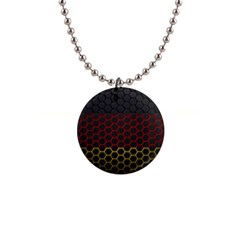 Germany Flag Hexagon 1  Button Necklace