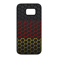 Germany Flag Hexagon Samsung Galaxy S7 Edge Black Seamless Case by HermanTelo