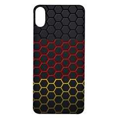Germany Flag Hexagon Iphone X/xs Soft Bumper Uv Case