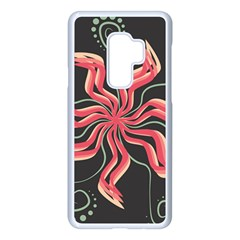 Flower Abstract Samsung Galaxy S9 Plus Seamless Case(white)