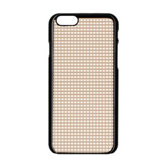 Gingham Check Plaid Fabric Pattern Grey Iphone 6/6s Black Enamel Case