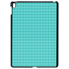 Gingham Plaid Fabric Pattern Green Apple Ipad Pro 9 7   Black Seamless Case by HermanTelo