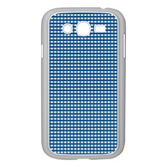 Gingham Plaid Fabric Pattern Blue Samsung Galaxy Grand Duos I9082 Case (white) by HermanTelo