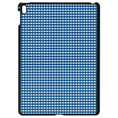 Gingham Plaid Fabric Pattern Blue Apple Ipad Pro 9 7   Black Seamless Case by HermanTelo
