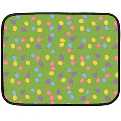 Balloon Grass Party Green Purple Fleece Blanket (mini) by HermanTelo