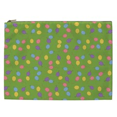 Balloon Grass Party Green Purple Cosmetic Bag (xxl)