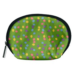 Balloon Grass Party Green Purple Accessory Pouch (medium)