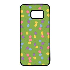 Balloon Grass Party Green Purple Samsung Galaxy S7 Black Seamless Case by HermanTelo