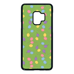 Balloon Grass Party Green Purple Samsung Galaxy S9 Seamless Case(black) by HermanTelo