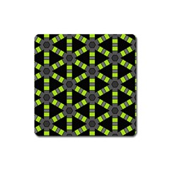Backgrounds Green Grey Lines Square Magnet