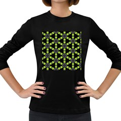 Backgrounds Green Grey Lines Women s Long Sleeve Dark T-shirt by HermanTelo