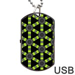 Backgrounds Green Grey Lines Dog Tag USB Flash (One Side) Front